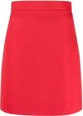 Alexander McQueen pleated crepe A-line skirt