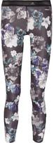 adidas by Stella McCartney Floral-print Stretch-jersey Leggings - Black