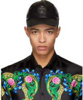 Versace Black Leather Medusa Cap