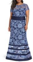 Tadashi Shoji Plus Size Women's Blouson Gown