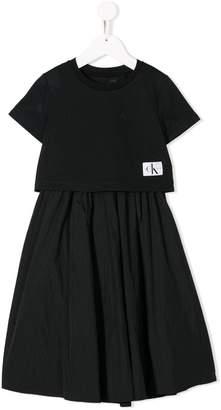 Calvin Klein Kids mesh top dress