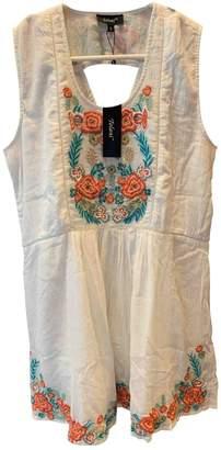Tolani White Cotton Dress for Women