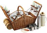 Picnic at Ascot Huntsman Picnic Basket for 4 w/Coffee Set & Blanket -Gazebo