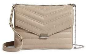 AllSaints Justine Quilted Leather Crossbody Bag