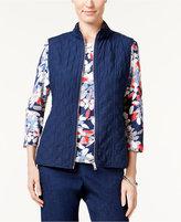 Alfred Dunner Uptown Girl Reversible Vest