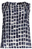 Marina Rinaldi Printed Silk Sleeveless Top