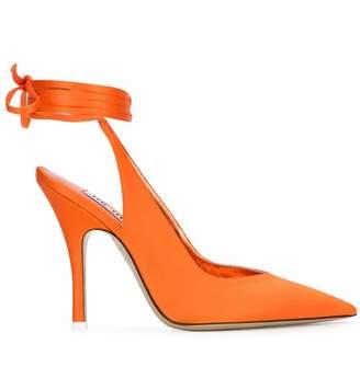 ATTICO The Orange Leather Pumps