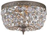 Crystorama Bronze Two-Light Flush-Mount Ceiling Light