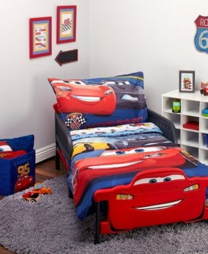 Disney Toddler Boy's Cars 3 Top Speed Bed Set, 4 Piece Bedding
