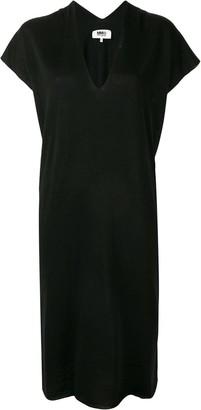 MM6 MAISON MARGIELA Drape V-Neck Dress