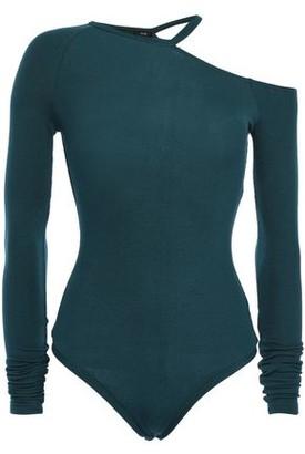 Alix Lawrence Cutout Ribbed Stretch-modal Bodysuit