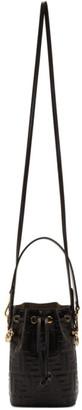 Fendi Black Mini Forever Mon Tresor Bucket Bag
