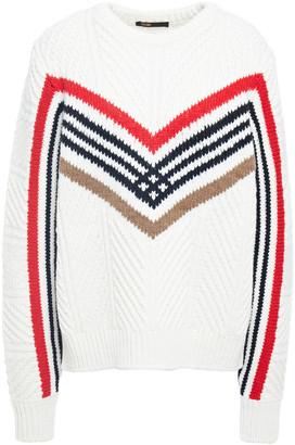 Maje Striped Ribbed-knit Sweater