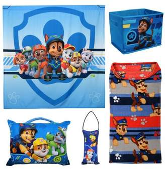 Paw Patrol 5Pc Kids Bedroom Set w/ Blanket, Pillows, Wall Tapestry, and Storage Bin (L.O.L! Surprise, PAW Patrol and Super Mario)