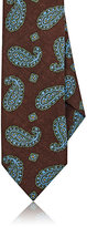 Drakes Drake's Men's Paisley Wool Necktie-BROWN