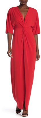 Laundry by Shelli Segal Knotted Front Maxi Dress