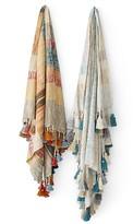 Sparrow & Wren Emily Tasseled Color Block Throw - 100% Exclusive