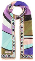 Emilio Pucci Printed wool and silk scarf