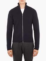 Officine Generale Navy Zip-up Sweater