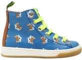 Maá Fox Printed Leather High Top Sneakers