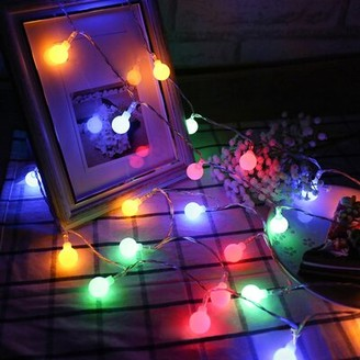 The Party Aisle 33' Outdoor LED 100 - Bulb Globe String Light Bulb Color: Red/Green/Blue
