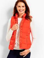Talbots Ruffle-Front Puffer Vest