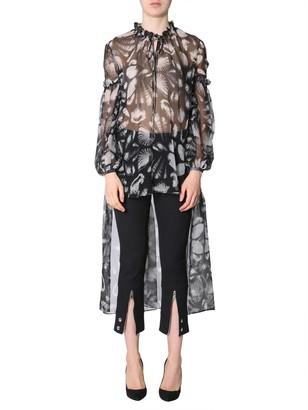 Alexander McQueen Asymmetric Sheer Blouse
