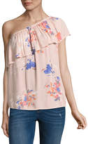 Arizona One Shoulder Ruffle Top- Juniors