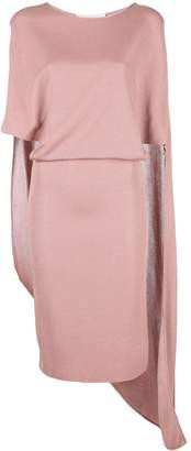 Esteban Cortazar Cape-Detailed Midi Dress