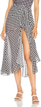 Silvia Tcherassi Fedra Skirt in Black & White Check   FWRD
