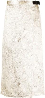 Jil Sander Floral-Print Wrap Skirt