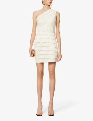 Lavish Alice Pleated satin-crepe mini dress