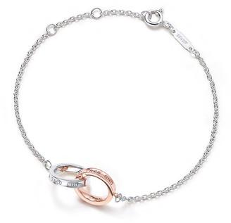 Tiffany & Co. 1837TM double interlocking bracelet in silver and Rubedo metal, mini
