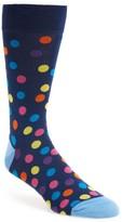 Bugatchi Men's Large Polka Dot Socks