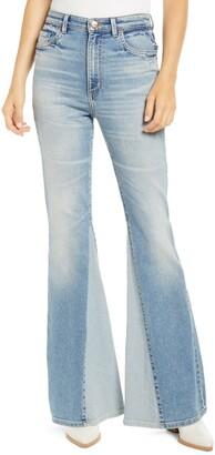 Lee Inseam Panel High Waist Flare Jeans