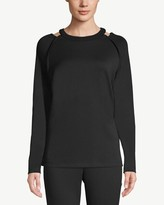 Zenergy Cut-Out Detail Knit Pullover Top
