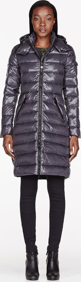 Moncler Charcoal Quilted Down Moka Coat