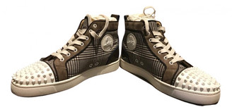 Christian Louboutin Louis Brown Cloth Trainers