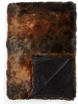 Hudson Park Frosted Faux Fur Throw - 100% Exclusive