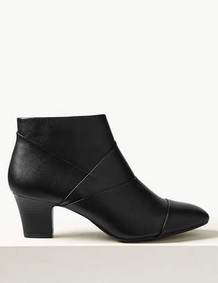 M&S CollectionMarks and Spencer Leather Square Toe Ankle Boots