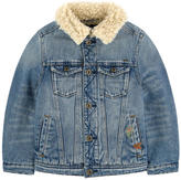 Scotch & Soda Jean jacket with a faux fur lining