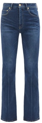 Tu es mon Trésor Amethyst Mid-rise Wide-leg Jeans - Dark Denim