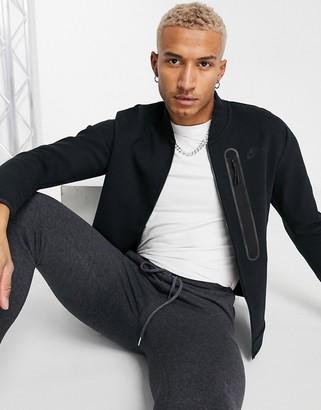 Nike Tech Fleece full-zip sweat bomber jacket in black