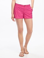 "Old Navy Mid-Rise Everyday Eyelet Shorts for Women (3 1/2"")"
