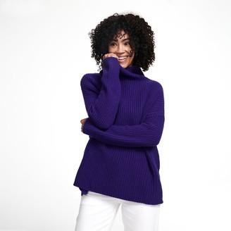 Naadam Wool Cashmere Oversized Ribbed Turtleneck