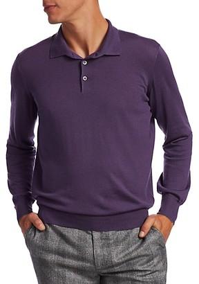 Brunello Cucinelli Wool Cashmere Polo Sweater