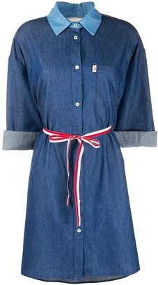 Semi-Couture Belted Chambray Shirt-Dress
