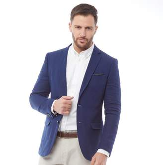 French Connection Mens Linen Blazer Soft Blue