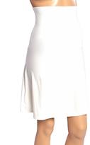 Joan Vass White Firm Compression Waist-Cincher Half-Slip - Plus Too