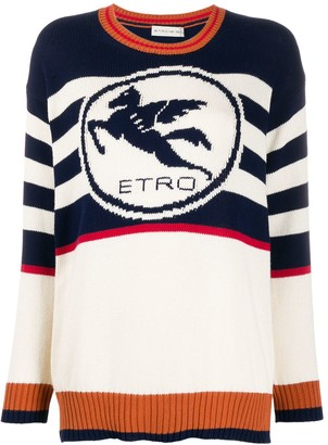 Etro Striped Logo Jumper